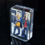 "3"" Photo Frame Crystal Picture Frame Sign Holder 5.5*8.2cm Home Decor 3 inch rectangle Acrylic Magnetic Photo Frame"