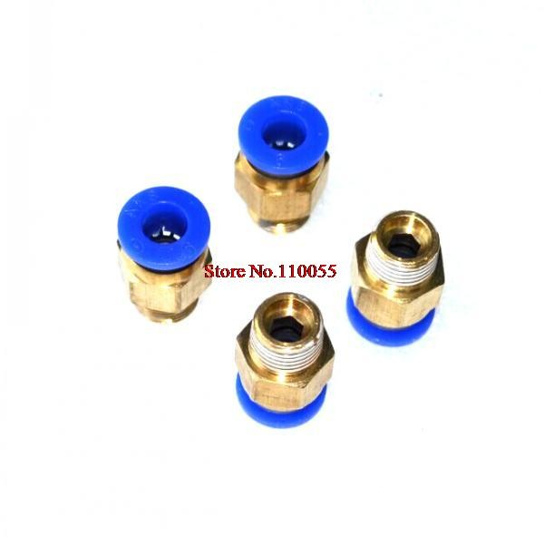 10pcs Straight Push PTFE tube In Pneumatic one touch fitting 1/8