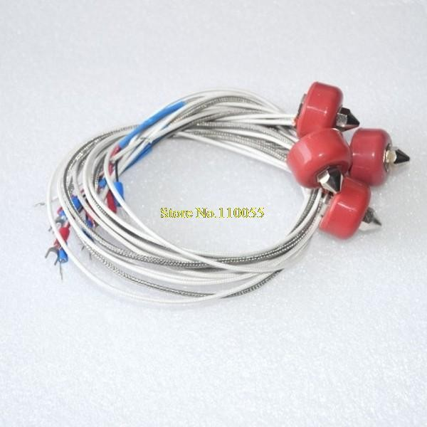 0.4mm 12V Singel-mouth Nozzle Extruder heating Print Head with thermocouple cable for 3D Printer