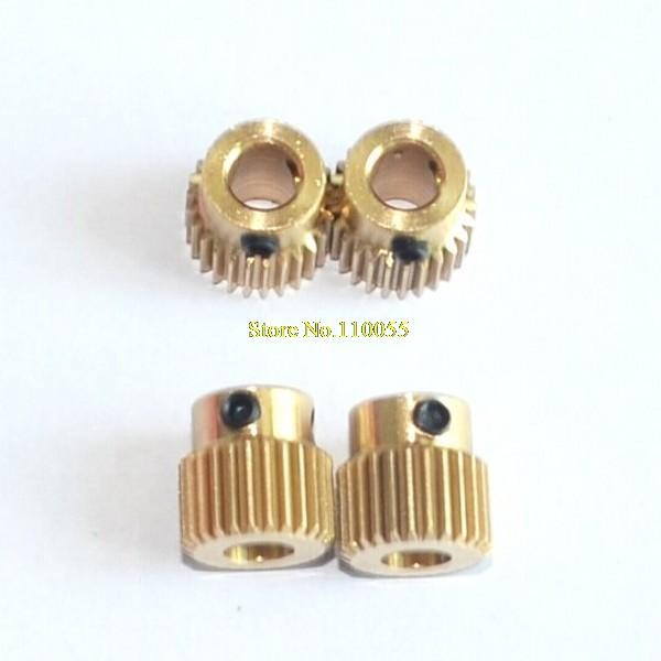 MK8 26T Printer Copper 26tooth Gear 5*11*11mm For DIY New 3D Printer Extruder