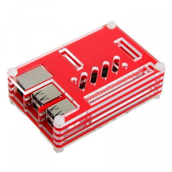 Pibow Coupe Enclosure for Raspberry Pi Model B+[red&transparant]
