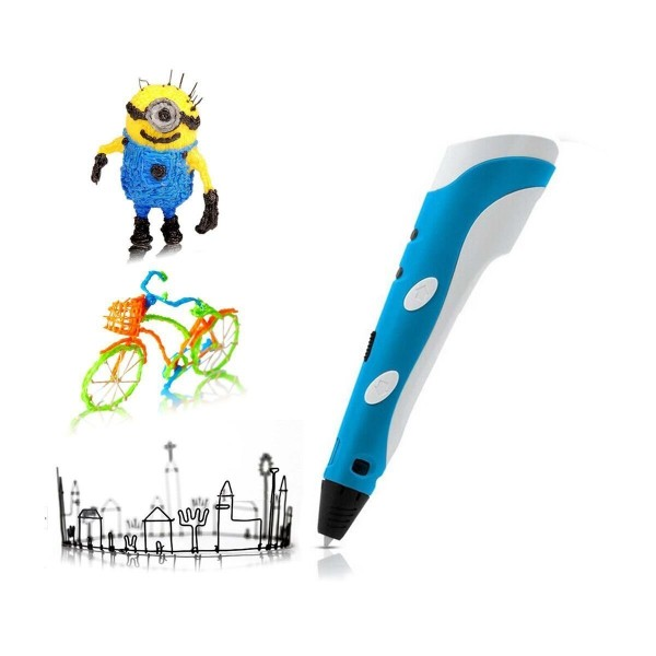 Soyan 3D Arts & Crafts Drawing 3D Printing Doodle Printer Pen with FREE 30G ABS Filament (Blue)
