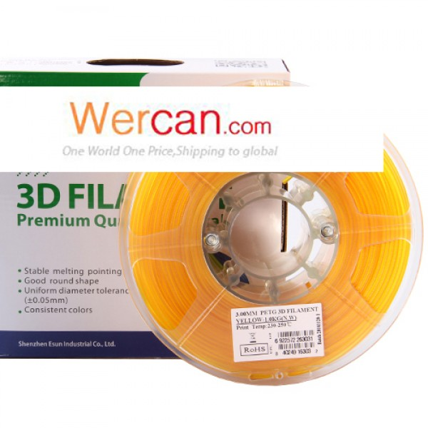 WERCAN 3D PETG filament-Yellow
