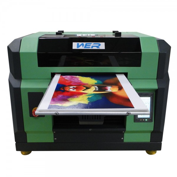 2016 Perfect design A3 WER E2000UV small format uv flatbed printer