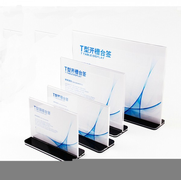 Menu Display Stand Price Label Holder Card Stand Holder A6