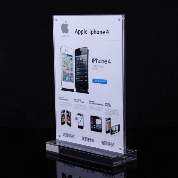Frame Sign Board For 3C Phone Store A4 Clear Sign Holder PriceTag Display Holder