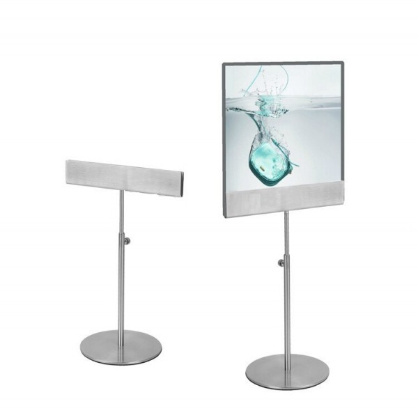 A4/A3 Sign Holder Menu Stand With Round Base Adjustable Metal Poster Stand Poster Banner Display Rack Holder