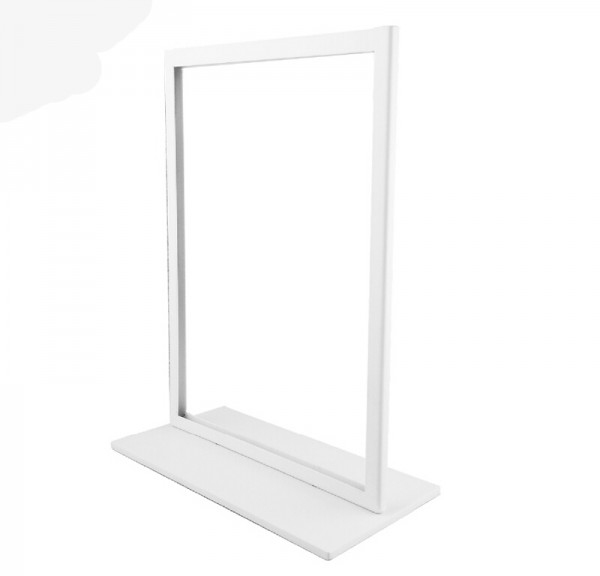 Menu Display Stand KT Board Billboard Display Stand White Metal A4 Poster Stand Sign Holder