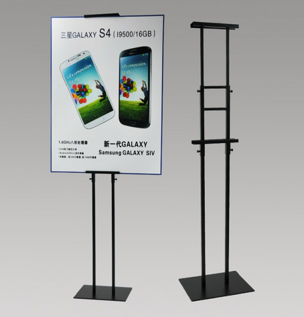Rack Holder Banner Stand Sign HolderBlack Adjustable Height Metal Poster Display Stand Poster