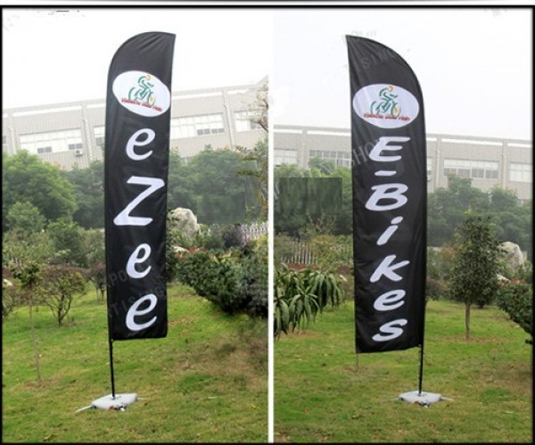 5.5m Exhibition Display Stand Include Water Bag 10kg Graphic Printing By Express Flying Outdoor Beach Flag Banner Pole