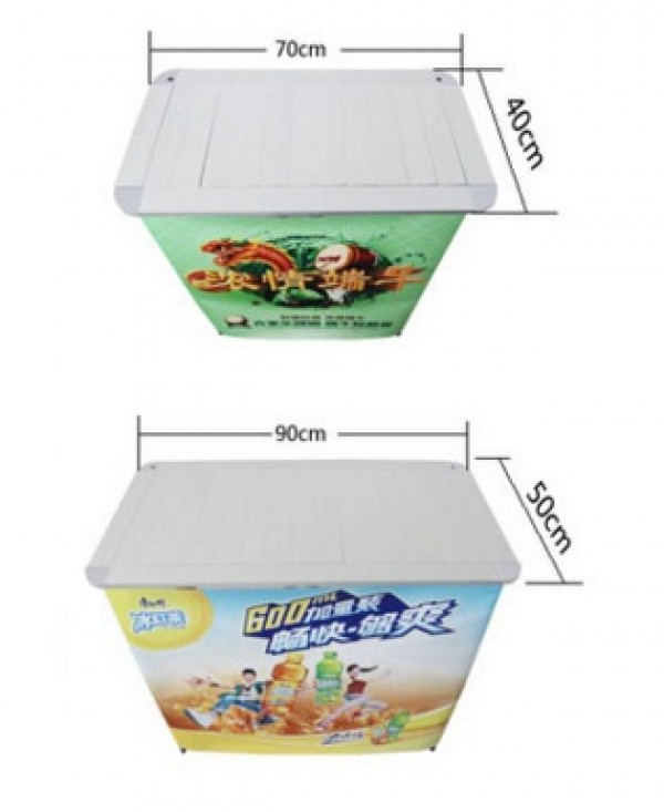 52 x 93cm Aluminium company supermarket poster portable display stand table POP promotion removable shelf