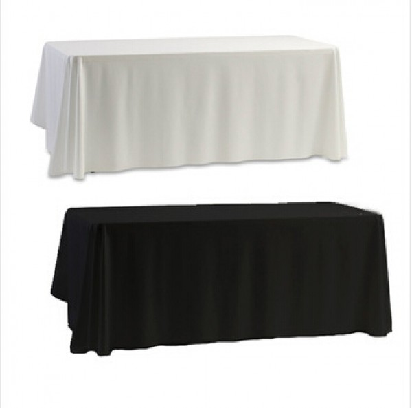 ablecloth Table Cover White & Black for Banquet Wedding Party Decor 145x145cm