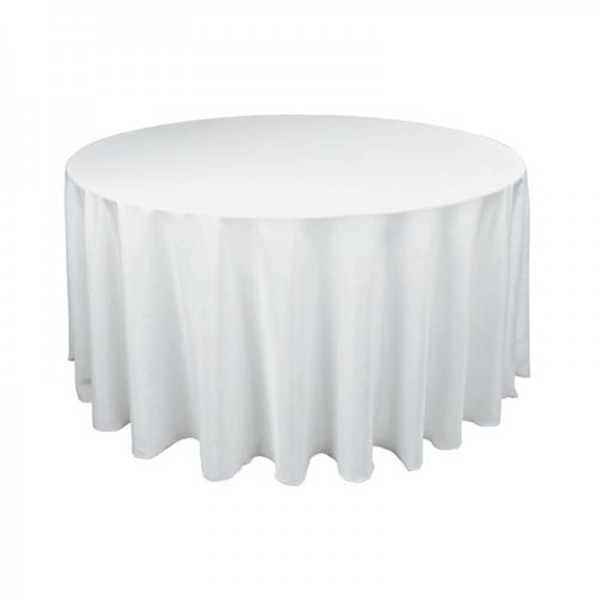 New Tablecloth Table Cover White Round Satin for Banquet Wedding Party Decor 90