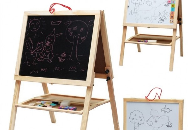 large drawing board easel blackboard versatile wooden toys agnetic folding scaffolding Sketchpad can